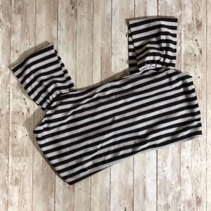 Other - Black & White Bikini Top Thick Straps Sz XXL